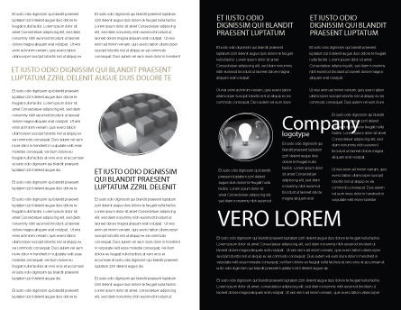 Black and White Brochure Template, Inner Page, 05226, Careers/Industry — PoweredTemplate.com