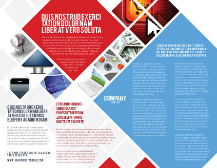 Wholesale Electronics Brochure Template, Inner Page, 05235, Technology, Science & Computers — PoweredTemplate.com