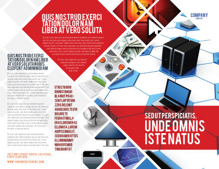 Wholesale Electronics Brochure Template, Outer Page, 05235, Technology, Science & Computers — PoweredTemplate.com