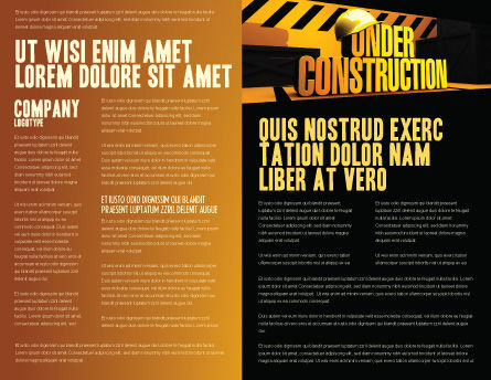 Closed Under Construction Brochure Template, Inner Page, 05236, Business Concepts — PoweredTemplate.com