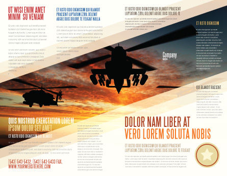 Attack Helicopter Brochure Template Outer Page