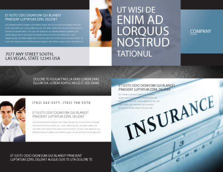 Insurance Brochure Template, Outer Page, 05253, Careers/Industry — PoweredTemplate.com