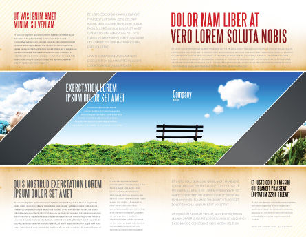 Bench Brochure Template, Outer Page, 05275, Nature & Environment — PoweredTemplate.com