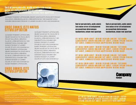 Tape Measure Brochure Template, Inner Page, 05282, Careers/Industry — PoweredTemplate.com