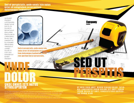 Tape Measure Brochure Template, Outer Page, 05282, Careers/Industry — PoweredTemplate.com