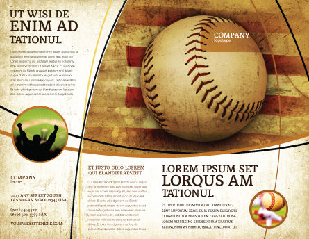 American Baseball Brochure Template#2