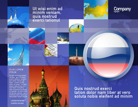 Russian Flag Brochure Template, Outer Page, 05313, Flags/International — PoweredTemplate.com