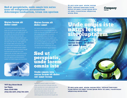 Medical World Brochure Template, Outer Page, 05318, Global — PoweredTemplate.com