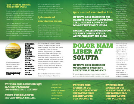 Rice Paddies Brochure Template, Inner Page, 05325, Agriculture and Animals — PoweredTemplate.com