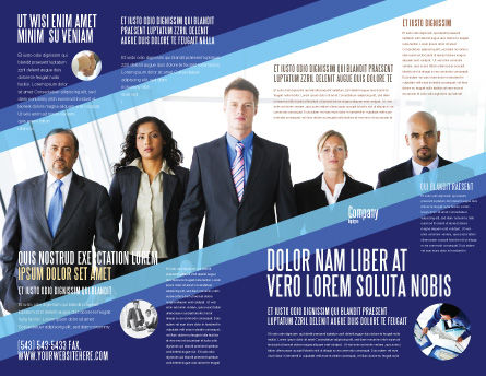 Business Professionals Brochure Template Outer Page