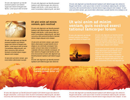 Sailing Ship Brochure Template, Inner Page, 05333, Cars/Transportation — PoweredTemplate.com