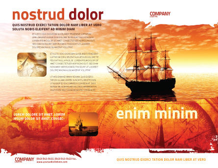 Sailing Ship Brochure Template, Outer Page, 05333, Cars/Transportation — PoweredTemplate.com