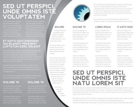 Mechanisms Of Brain Brochure Template, Inner Page, 05340, Consulting — PoweredTemplate.com
