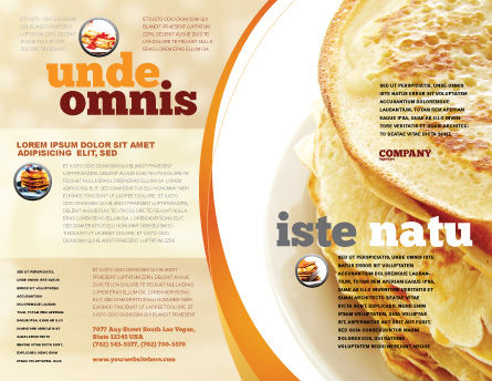 Pancakes Brochure Template, Outer Page, 05343, Food & Beverage — PoweredTemplate.com