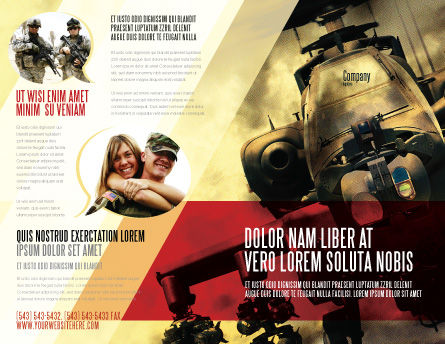 Military Helicopter Brochure Template, Outer Page, 05348, Military — PoweredTemplate.com