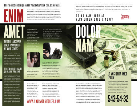Money and Guns Brochure Template, Outer Page, 05349, Financial/Accounting — PoweredTemplate.com