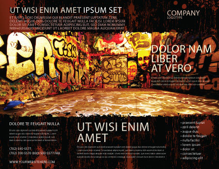 Graffiti Zone Brochure Template, Outer Page, 05376, Art & Entertainment — PoweredTemplate.com