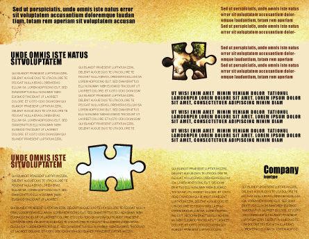 Wind Energy Versus Coal Plant Brochure Template, Inner Page, 05385, Nature & Environment — PoweredTemplate.com