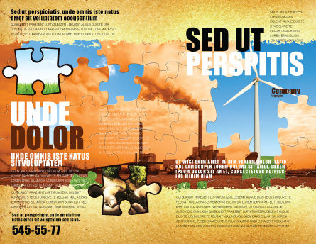 Wind Energy Versus Coal Plant Brochure Template Outer Page