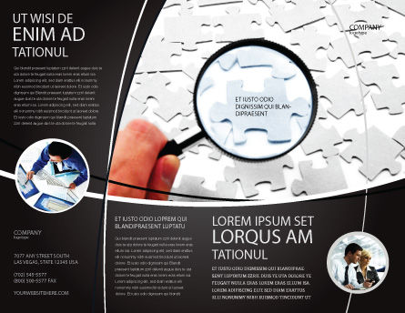 Detailed Searching Brochure Template, Outer Page, 05386, Consulting — PoweredTemplate.com
