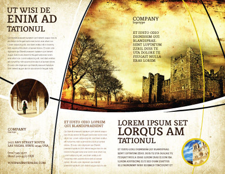 Castles And Fortress Brochure Template, Outer Page, 05396, Education & Training — PoweredTemplate.com