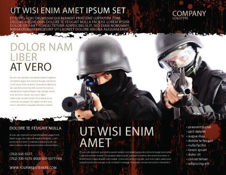SWAT Brochure Template, Outer Page, 05404, Military — PoweredTemplate.com