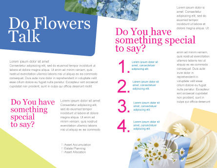 Table Bouquet Brochure Template, Inner Page, 05406, Careers/Industry — PoweredTemplate.com