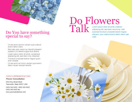 Table Bouquet Brochure Template, Outer Page, 05406, Careers/Industry — PoweredTemplate.com