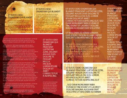 Holy Scripture Brochure Template, Inner Page, 05416, Religious/Spiritual — PoweredTemplate.com