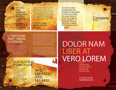 Holy Scripture Brochure Template, Outer Page, 05416, Religious/Spiritual — PoweredTemplate.com