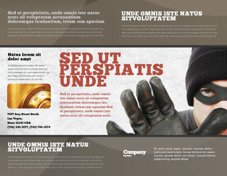 Masked Man Brochure Template, Outer Page, 05417, Legal — PoweredTemplate.com