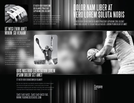 Rugby Football Brochure Template, Outer Page, 05421, Sports — PoweredTemplate.com