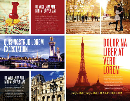 Paris In Collage Brochure Template, Outer Page, 05425, Careers/Industry — PoweredTemplate.com