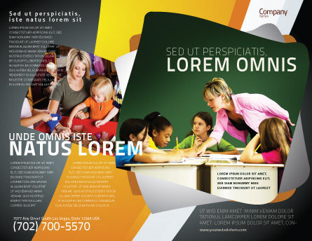 Class Teaching Brochure Template Outer Page