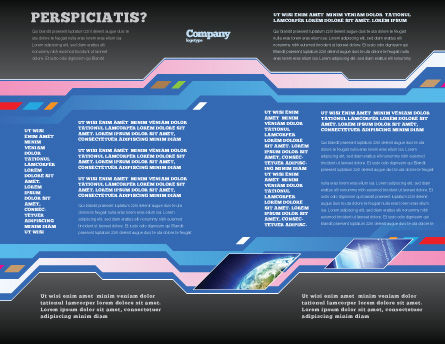Computer Scheme Brochure Template, Inner Page, 05453, Technology, Science & Computers — PoweredTemplate.com