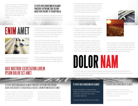 Times Square Brochure Template, Inner Page, 05456, Construction — PoweredTemplate.com