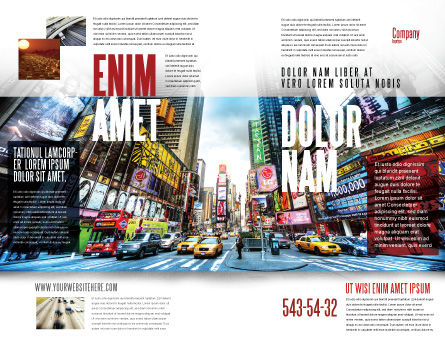 Times Square Brochure Template, Outer Page, 05456, Construction — PoweredTemplate.com