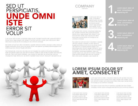 Union Brochure Template, Inner Page, 05459, Consulting — PoweredTemplate.com