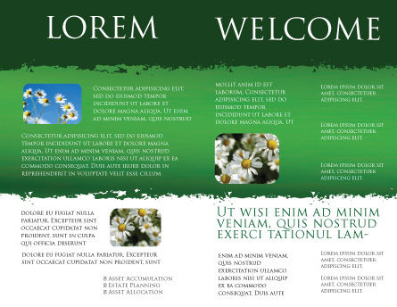Daisy Chain Brochure Template, Inner Page, 05462, Nature & Environment — PoweredTemplate.com