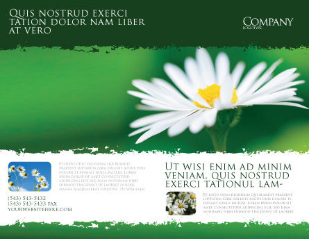 Daisy Chain Brochure Template, Outer Page, 05462, Nature & Environment — PoweredTemplate.com
