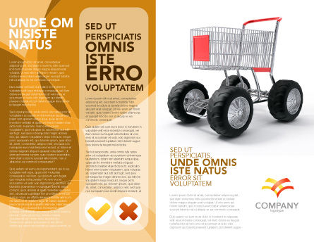 Cart Brochure Template, Outer Page, 05463, Careers/Industry — PoweredTemplate.com