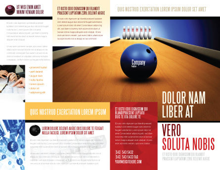 Hitting The Goal Brochure Template, Outer Page, 05469, Sports — PoweredTemplate.com