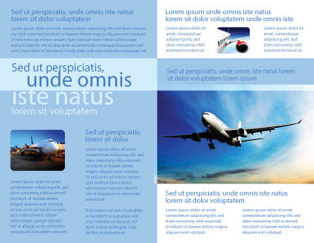 Modern Plane Brochure Template, Inner Page, 05474, Cars/Transportation — PoweredTemplate.com