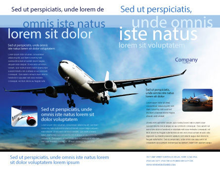Modern Plane Brochure Template, Outer Page, 05474, Cars/Transportation — PoweredTemplate.com