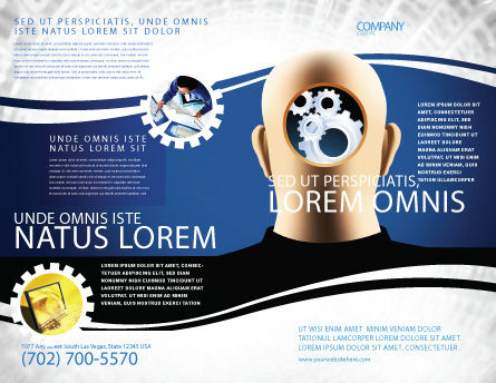 Mechanistical Mental Work Brochure Template, Outer Page, 05484, Consulting — PoweredTemplate.com