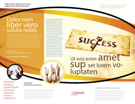 Key to Success Brochure Template Outer Page