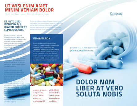 Drug Therapy Brochure Template, Outer Page, 05497, Medical — PoweredTemplate.com