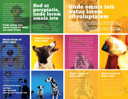 Dog Breed Brochure Template Inner Page