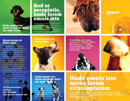 Dog Breed Brochure Template, Outer Page, 05529, Agriculture and Animals — PoweredTemplate.com