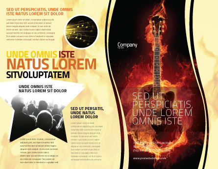Jazz Guitar Brochure Template Outer Page
